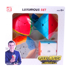 "Набор Кубиков Рубика № 4 ""Qiyi Cube"" (4 шт) (Set of Rubik's Cubes No. 4 ""Qiyi Cube"" (4 pcs))"
