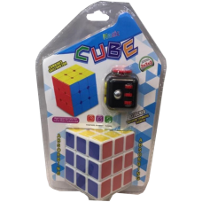 Набір кубик Рубіка з кубиком-антистрес (Set Rubik Cube with anti-stress cube)